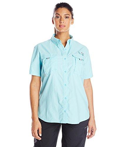 Columbia  Women's PFG Bahama Short Sleeve - Plus Size , Clear Blue, 1X