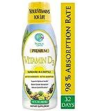Tropical Oasis Liquid Vitamin D3-5000 IU per serv – Promotes strong bones & healthy muscle function. PLUS natural mood booster– Liquid D3 supplement for Maximum 96% Absorption Rate- 16 oz - 32 Serv