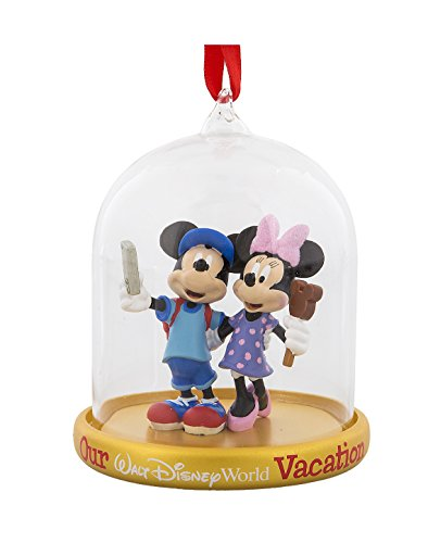Walt Disney World Mickey Minnie Mouse Tourists Dome Globe - Snowglobe Mouse Mickey