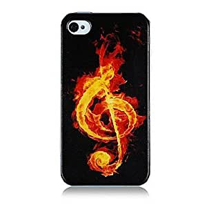 QHY Musical Note Pattern Silicone Soft Case for iPhone4/4S