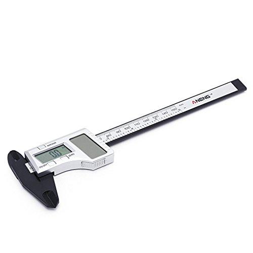 Solar Caliper - YDZN Solar Power ElectronicDigital VernierCaliper, LCD Gauge Micrometer, 150mm 6 inchRulerMeasuringTool