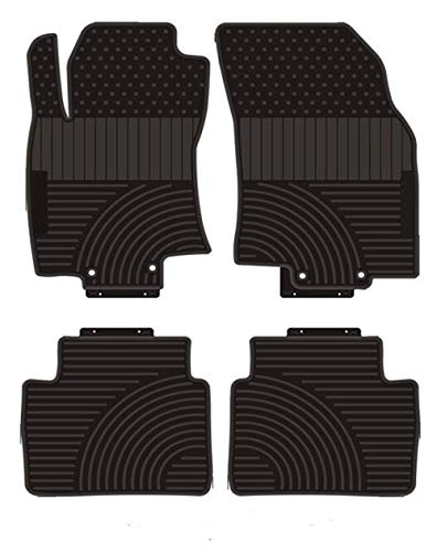 (Kaungka Heavy Rubber Car Front Floor Mats Compatible with 2014 2015 2016 2017 2018 Nissan Rogue -All Weather and Season Protection Car Carpet)