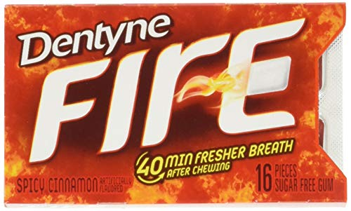Dentyne Fire Spicy Cinnamon Sugar-Free Gum, 12 Pack