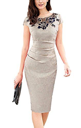 U8Vision - Vestido - Noche - para Mujer Beige