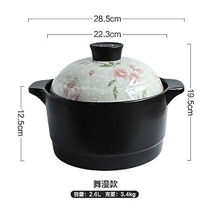 Cazo Cacerolas Ceramica Olla De Cerámica Resistente A Altas Temperaturas, Olla De Sopa, Olla