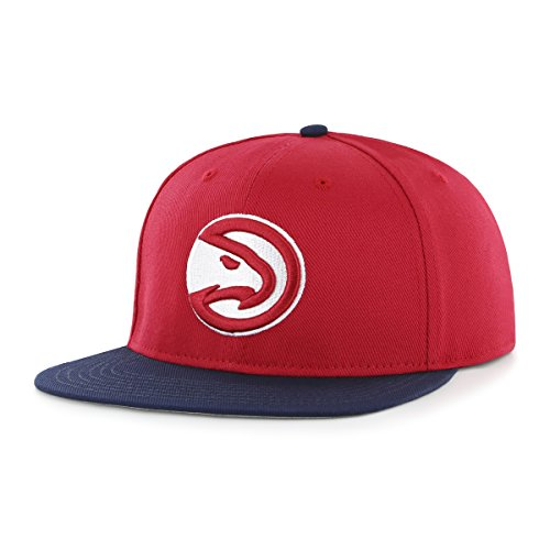 NBA Atlanta Hawks Gallant OTS Varsity Snapback Adjustable Hat, Red, One Size (Atlanta Hawks Fitted Cap)