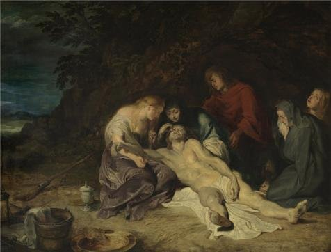 Oil Painting 'Peter Paul Rubens,The Lamentation Of Christ,1577-1640', 24 x 32 inch / 61 x 80 cm , on High Definition HD canvas prints is for Gifts And Dining Room, Home Theater And Kitchen Decoration