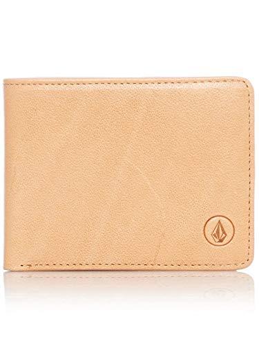 - Volcom Natural Strangler Bifold Wallet (Default, Brown)