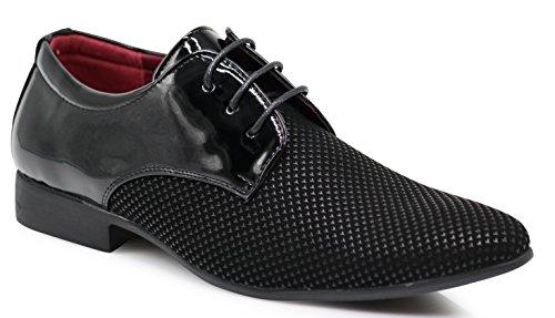 d88c95203d52 Enzo Romeo PLM4 Men's Dress Oxfords Slip On Two Tone Fashion Shoes (9 D(M)  US, Black)