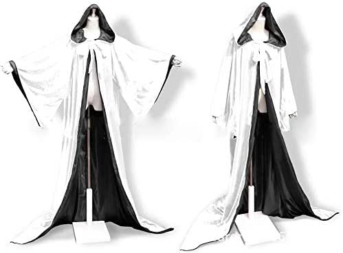 Fenghuavip Stylish Floor Length Winter Bridal Wedding Cloak White Cape