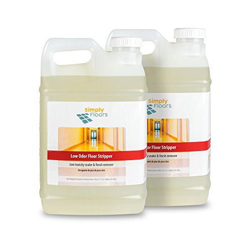 Floor Liquid Finish - Simply Floors FLC-00010 Low Odor Floor Stripper - [Pack of 2 - 2.5 gallon bottles], 10.5-11.0 pH, Ultra concentrated, non-butyl, fast acting, environmentally preferable, extremely low odor liquid floor finish remover and stripper