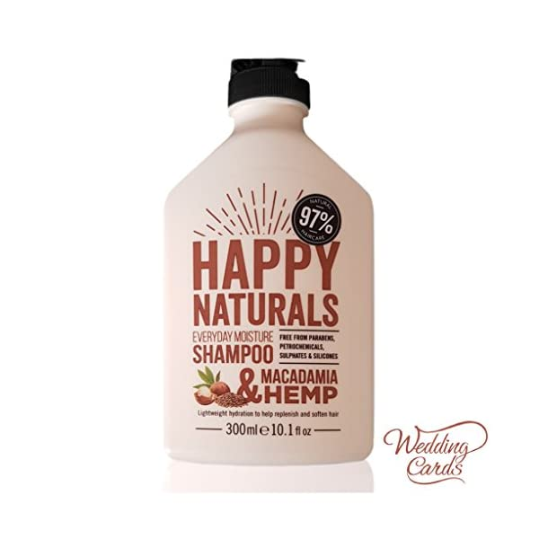 Happy Naturals MACADAMIA & HEMP EVERYDAY MOISTURE SHAMPOO No Parabens, SLS, Petrochemicals, Sulphates & Silicones