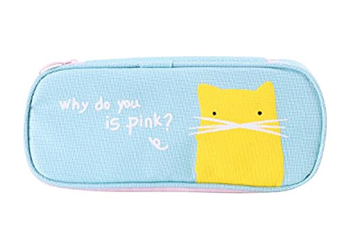 Cute Canvas Pencil Case Pouch Stationery Bag Makeup Case