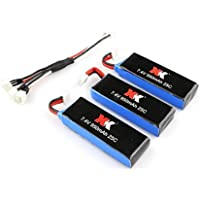 New XK X251 RC Quadcopter Spare Parts 3Pcs 7.4V 950mAh 25C Battery+1Pcs Charging Cable By KTOY