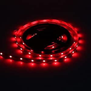 5M 30W 30x5050SMD 1500-1800LM Red Light LED Strip Light with 12V 3A Adapter