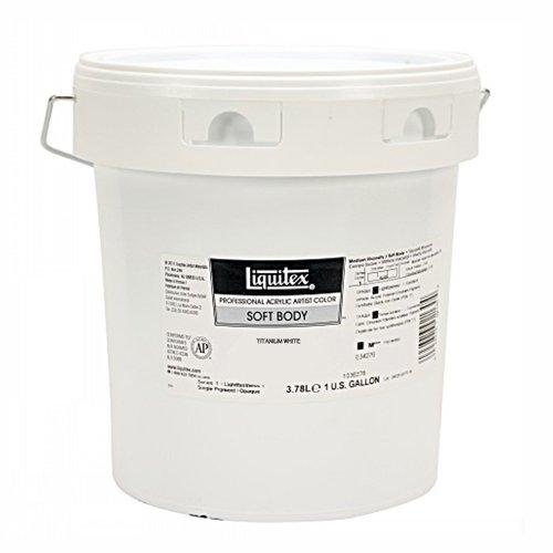 Liquitex Professional Soft Body Acrylic Paint 128-oz jar, Titanium White by Liquitex