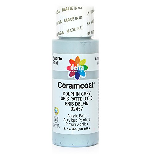 Delta Creative Ceramcoat Acrylic Paint in Assorted Colors (2 oz), 2457, Dolphin Grey