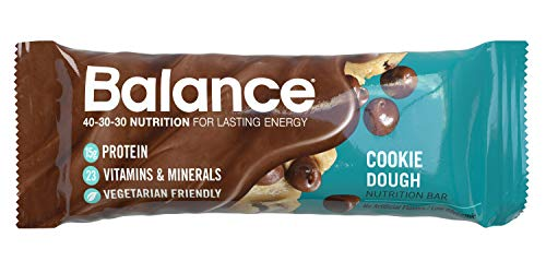 (Balance Bar, Healthy Protein Snacks, Cookie Dough, 1.76 oz, 6 Count)