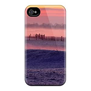 For Saraumes Iphone Protective Case, High Quality For Iphone 4/4s Misty Morning In Winter Skin Case Cover