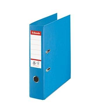 Leitz 811311 - Archivador de plástico con anillas, lomo ancho, A4, color azul: Amazon.es: Oficina y papelería