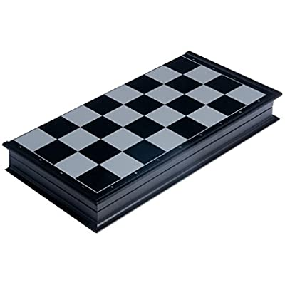 Qiyun 12.5' 2 in 1 Travel Magnetic Chess and Checkers Set