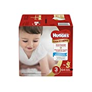 Huggies Little Snugglers Baby Diapers, Size 3, 64 Count, BIG PACK (Packaging May Vary)