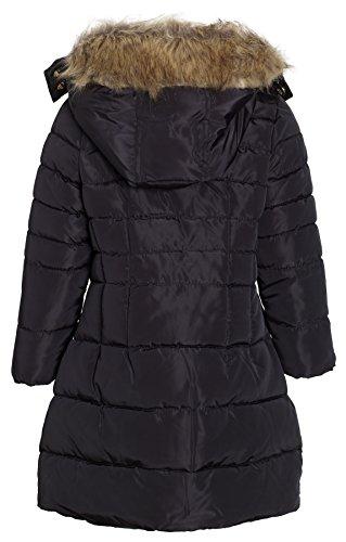Steve Madden Girls Winter Down Alternative Hooded Long Bubble Puffer Jacket Coat - Black (Size 5/6) by Steve Madden (Image #2)