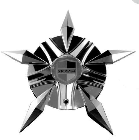 Mossa Wheels Custom Center Cap Chrome (Set of 1) # MS-CAP-L221 Turin-FWD C-730 71222-4