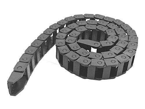 - R28 10mm x 20mm Black Plastic Wire Carrier Cable Drag Chain 1M Length for CNC