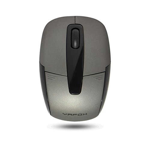 Zaidtek N590 2.4GHz Wireless Mouse Portable Nano Receiver Accessories 10 Meters Range Mini Parts for Computers (Gray)
