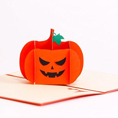 Paper Spiritz Angry Pumpkin Pop up Halloween Card With Envelope Laser Cut Pumkin Thanksgiving Greeting Card Handmade Birthday Card For Kids (Why Pumpkin For Halloween)