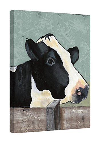 Amazon com: Easy Art Prints Jade Reynolds's 'Holstein Cow I' Premium