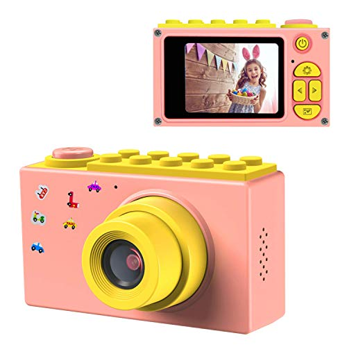 ShinePick Kids Digital Camera Mini 2 Inch Screen Children's Camera 8MP HD Digital Camera with Silicone Soft Cover & Micro SD Card(Pink)