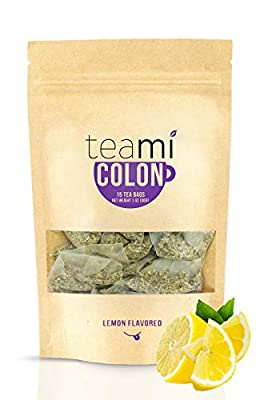 Teami Colon Detox Tea Cleanse for Weight Loss (15 Tea Bags, 30 Day Supply, Lemon)
