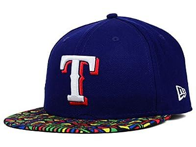 Texas Rangers New Era MLB Viza Hook Tribal Bill 59FIFTY Royal Blue Hat Cap
