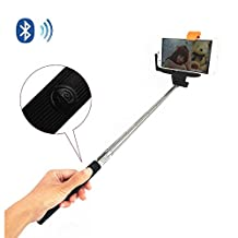 Honorie Take Photo and Video Selfie Stick - Extendable Self-portrait Wireless Bluetooth Monopod Pole with Mount Holder for GOPRO, Camera, iPhone 6 Plus 6 5S 5C 5 4S Samsung Galaxy S6 Edge S6 S5 S4 Note 4 3 2 Sony Xperia Z2 HTC One M9 M8 Google Nexus 6 and More Android 3.0+ / iOS 4.0+ Smart Cell Phones (Black)