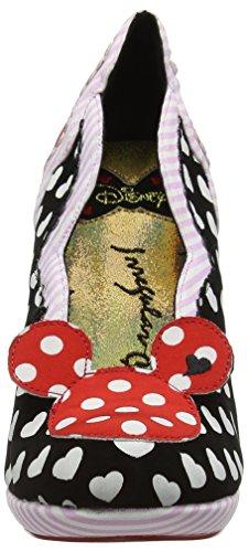 Scelta Irregolare Womens Minnie Mouse A Pois Mickey Disney Tacchi Nero / Rosso / Rosa