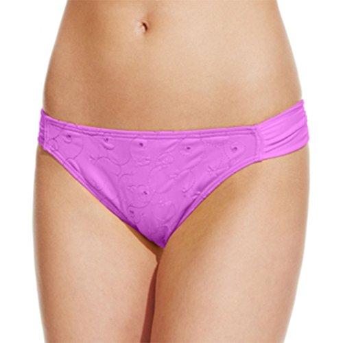 Hula Honey Eyelet Hipster Bikini Bottom Women's Swimsuit lavender small