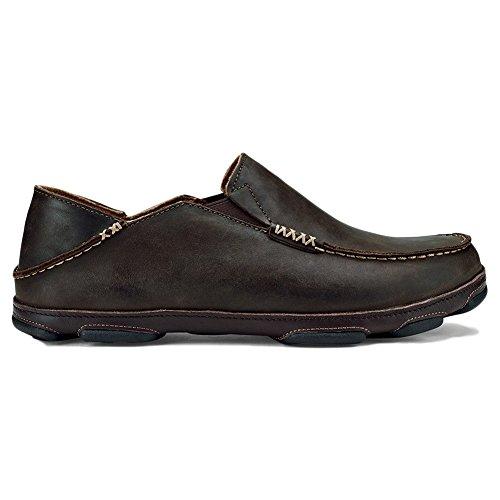 OluKai Moloa Shoe - Mens Dark Wood/Dark Java 11