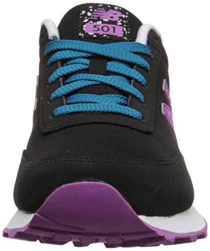 New Balance Womens Classics Traditionnels Synthetic Trainers Black Purple