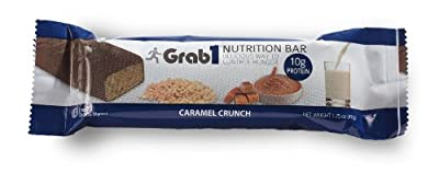 Grab1 Protein Bars Caramel Crunch 20 Count FREE SHIPPING!