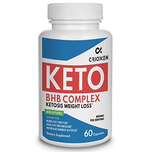 Keto pure diet pills - Advanced weight loss Keto supplement pure BHB Exogenous instant ketones salts to Kickstart Ketosis Burning Fat Boost Energy and Focus for men women 60 weight ()