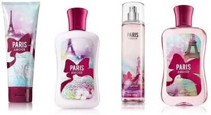 Bath & Body Works Signature Collection PARIS AMOUR Gift Set Body Lotion ~ Shower Gel ~ Body Cream & Fragrance Mist