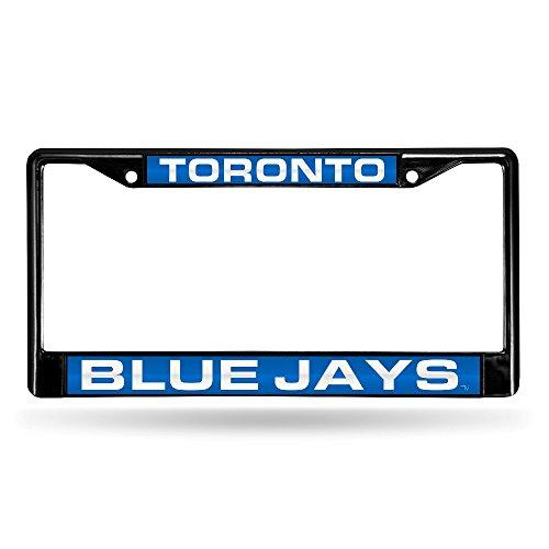 Toronto Blue Jays License Plate - Rico MLB Blue Jays Laser Chrome Frame, Black, 15 x 8