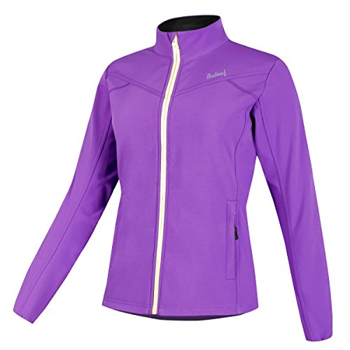 [Baleaf Women's Windproof Fleece Thermal Softshell Cycling Winter Jacket Purple Size S] (Good Halloween Costumes For College Guys)