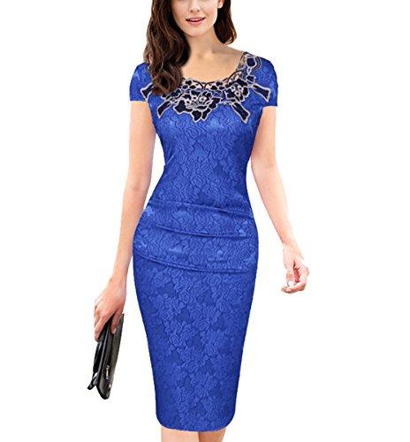 U8Vision - Vestido - Noche - para Mujer Azul