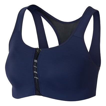 Amazon.com  Nike Womens Zip Dri-Fit Medium Support Sports Bra Navy S   Sports   Outdoors