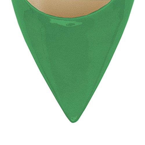 Tg Noi Verde Pompa Punta A Da Estate A 12 Tacco 5 D'orsay Lutalica Sandali Donne Punta Spillo Alto Del Sexy 5 Vestito 8aRa4q