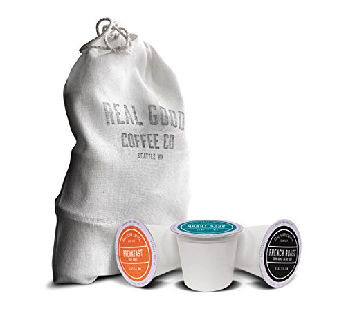 Collection Roasted Java 1 Light (Real Good Coffee Co Recyclable K Cups, Variety Pack, Keurig 2.0 and 1.0 Compatible, 10 Single Serve)