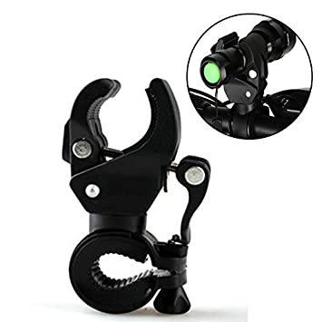 Bike Bicycle Light Lamp Stand Holder Rotation Grip Flashlight Torch Clamp Clip